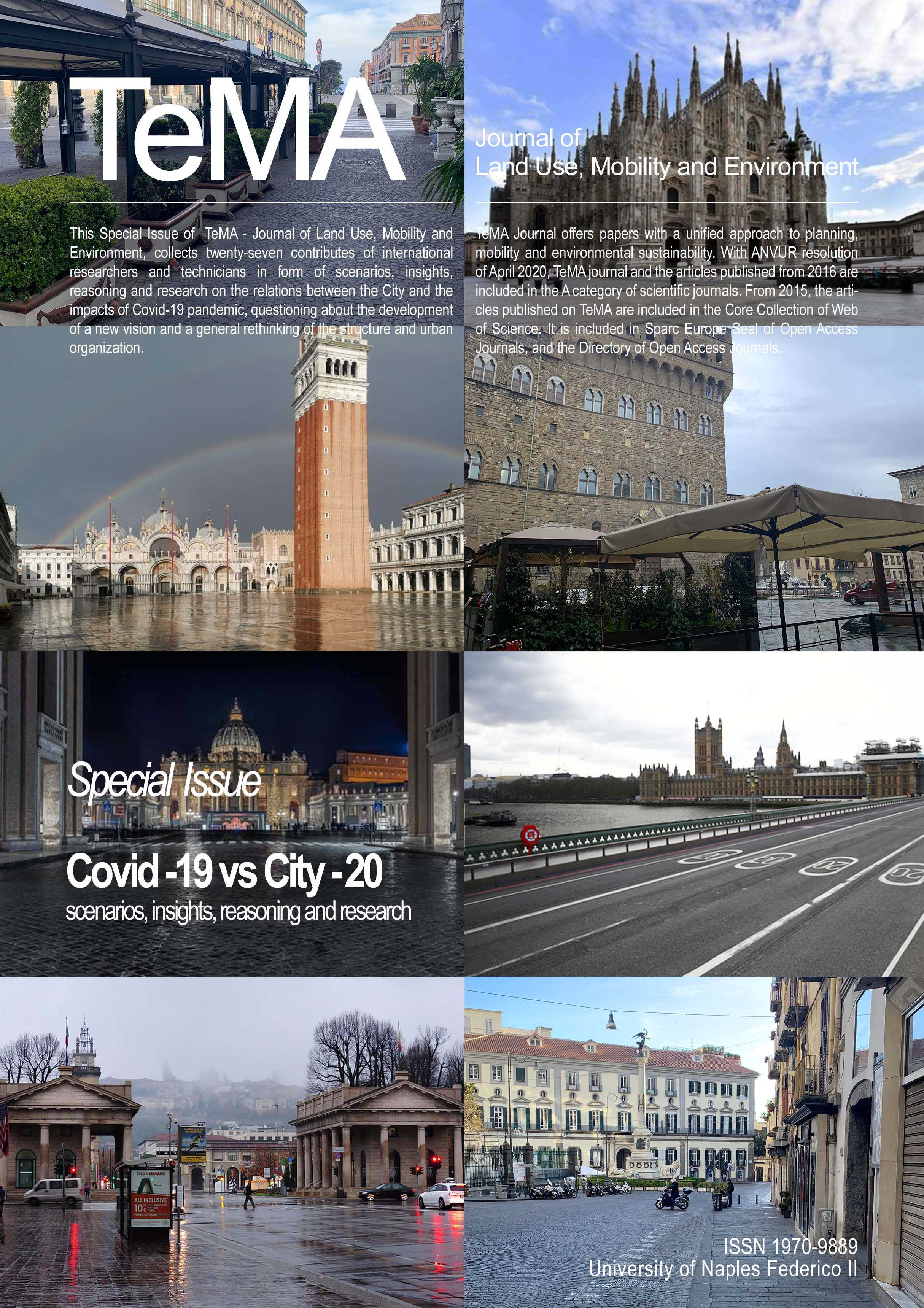 """Covid-19 vs City-20"", Special Issue di TeMA - Journal of Land Use, Mobility and Environment"